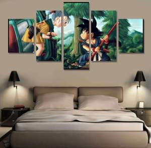 Décoration murale Dragon Ball Goku X Bulma
