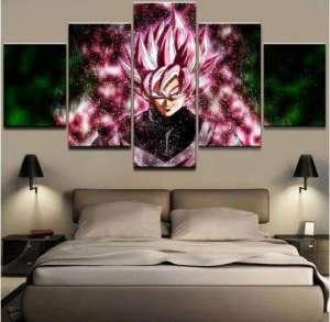 Décoration murale en 5 pièces Dragon Ball Super Black SSJ Rosé Full Power