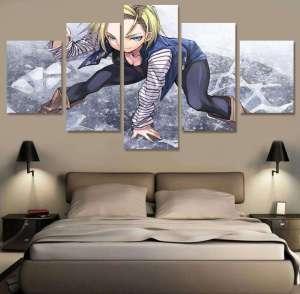 Décoration murale en 5 pièces Dragon Ball Z C-18
