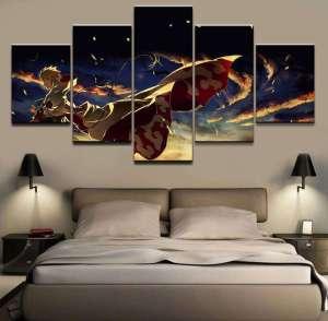 Décoration murale en 5 pièces Naruto Hokage