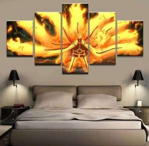 Décoration murale en 5 pièces Naruto Hokage Chakra Mode