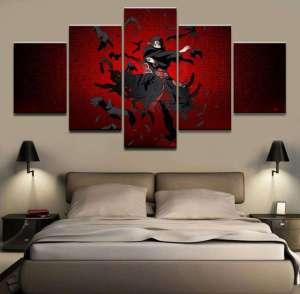 Décoration murale en 5 pièces Naruto Itachi Genjutsu