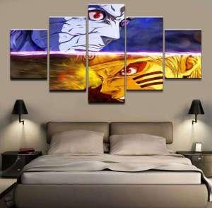 Décoration murale en 5 pièces Naruto Vs Obito