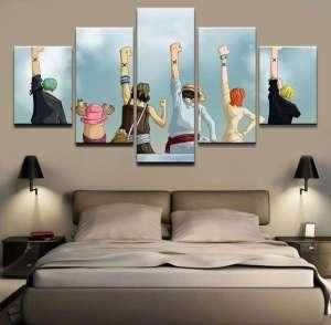 Décoration murale en 5 pièces One Piece Alabasta Ending
