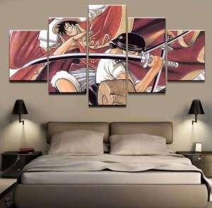 Décoration murale en 5 pièces One Piece Luffy X Zoro