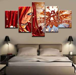 Décoration murale Fairy Tail Erza Scarlet