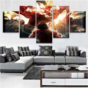 Décoration murale L'attaque des Titans Eren Titan Vs Colossal Titan