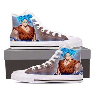 Chaussures Baskets Dragon ball Super Goku SSJ Blue God