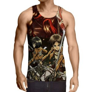 Débardeur 3D All Over Attack On Titans Eren X Mikasa