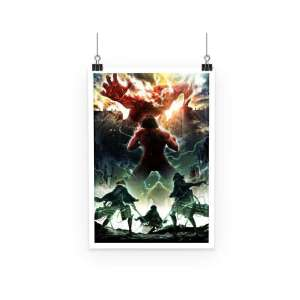 Poster Attack On Titans Colossal Titan Attack