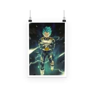 Poster Dragon Ball Super Vegeta Super Saiyan Blue God