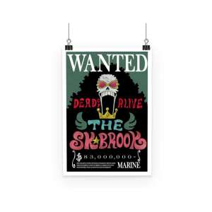 Poster One Piece Brook Wanted Dead Or Alive