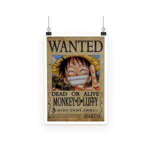 Poster One Piece Luffy Wanted