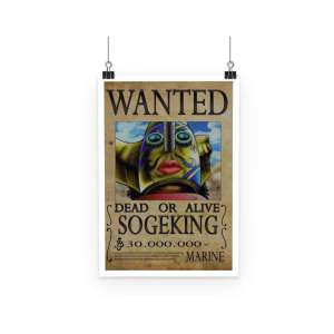 Poster One Piece Sogeking Wanted