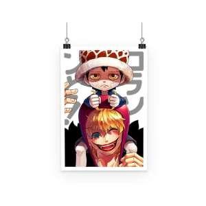 Poster One Piece Trafalgar X Rosinante