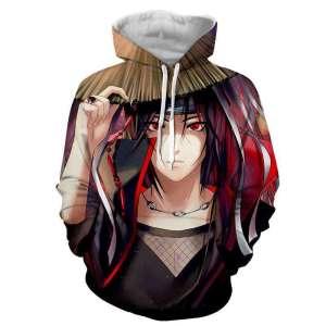 Pull à capuche 3D All over Naruto Itachi Akatsuki