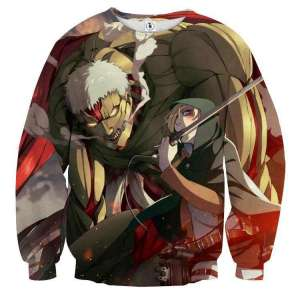 Pull classique 3D All Over Attack On Titans Armored Titan X Annie