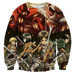 Pull classique 3D All Over Attack On Titans Colossal Titan