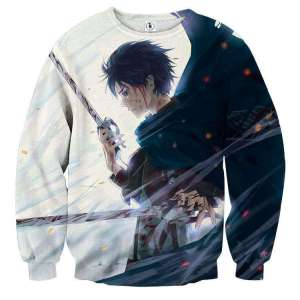 Pull classique 3D All Over Attack On Titans Eren Fight