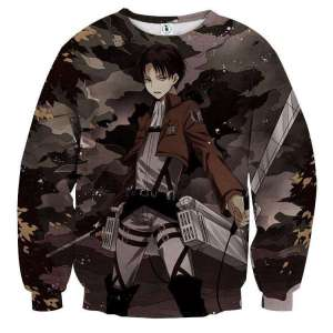 Pull classique 3D All Over Attack On Titans Levi Rivaille