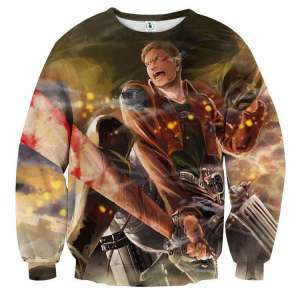 Pull classique 3D All Over Attack On Titans Reiner