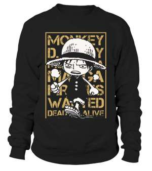 Sweat Classique One Piece Luffy Wanted