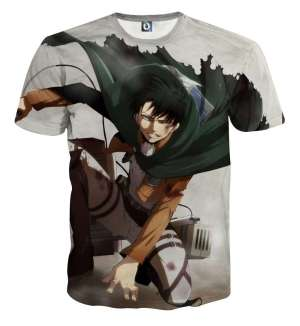 T Shirt 3D All Over Attack On Titan Levi Rivaille