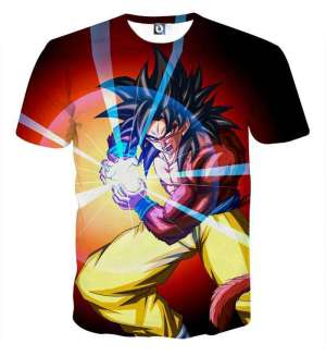 T Shirt 3D All Over Dragon Ball GT Goku SSJ 4