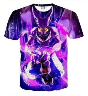 T Shirt 3D All Over Dragon Ball Super Beerus