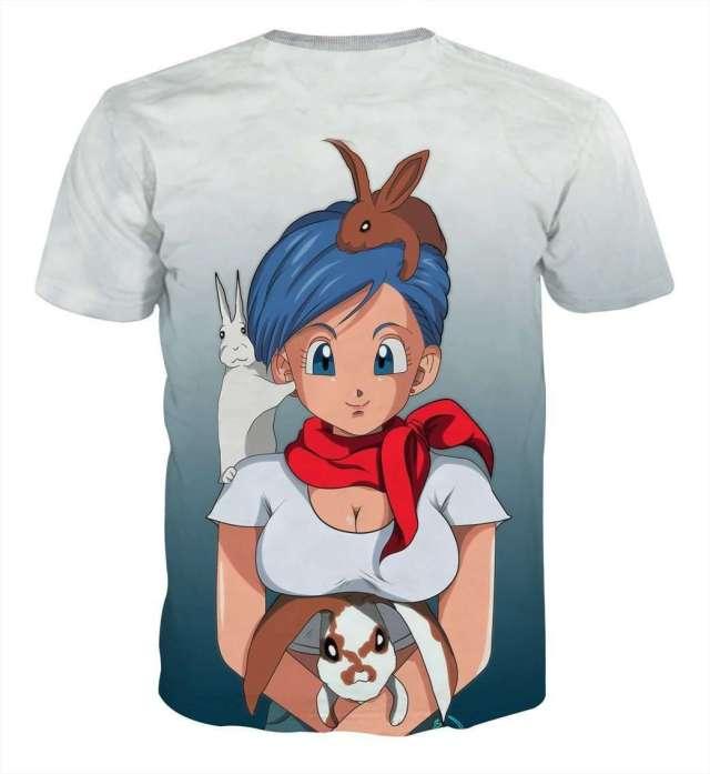 T Shirt 3D All Over Dragon Ball Z Bulma