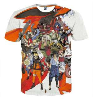 T Shirt All Over 3D Naruto Characters