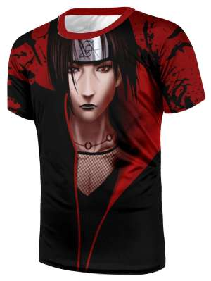 T Shirt All Over 3D Naruto Itachi HD