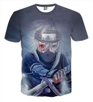 T Shirt All Over 3D Naruto Kakashi Gaiden