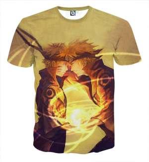 T Shirt All Over 3D Naruto X Yondaime