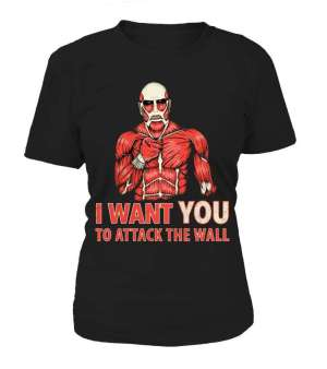 T Shirt Femme Attack On Titans Attack The Wall