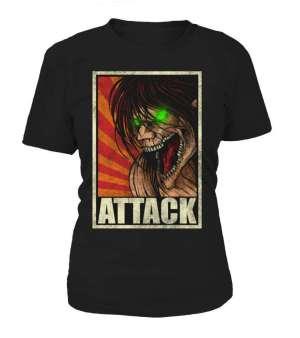 T Shirt Femme Attack On Titans Eren Titan