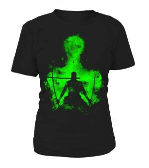 T Shirt Femme Bleach One Piece Zoro Shadow