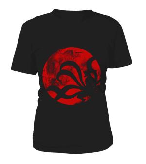 T Shirt Femme Naruto Kyubi Moon