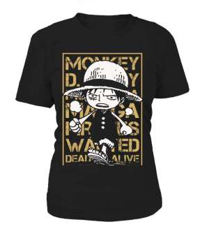 T Shirt Femme One Piece Luffy Wanted