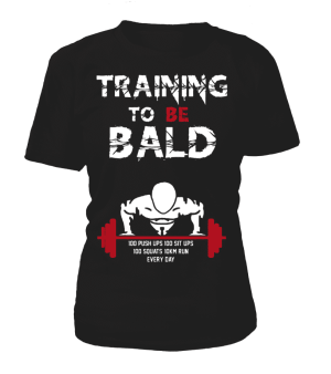T Shirt Femme One Punch Man Training To Be Bald