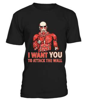T Shirt Attack On Titans Attack The Wall