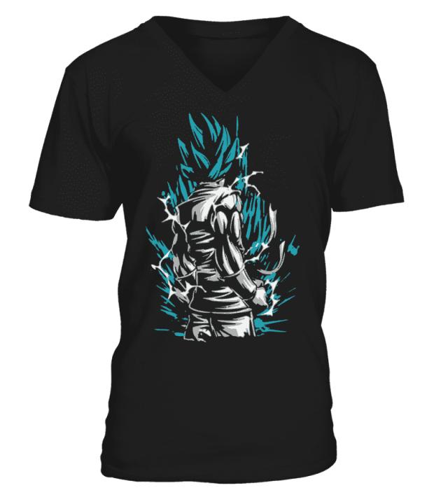 T Shirt Dragon Ball Super Goku Blue God