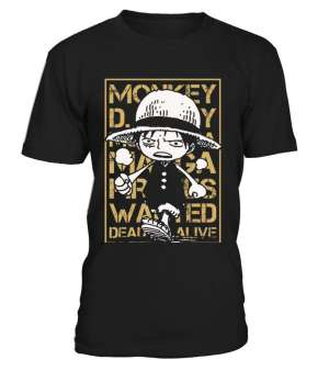 T Shirt One Piece Luffy Wanted