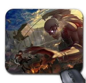 Tapis de Souris Attack On Titan Mikasa Vs Colossal Titan