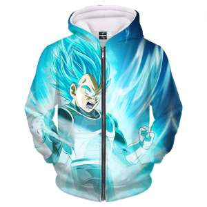 Veste à capuche 3D All Over Dragon Ball Super Vegeta SSJ God