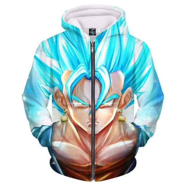 Veste à capuche 3D All Over Dragon Ball Super Vegeto Power