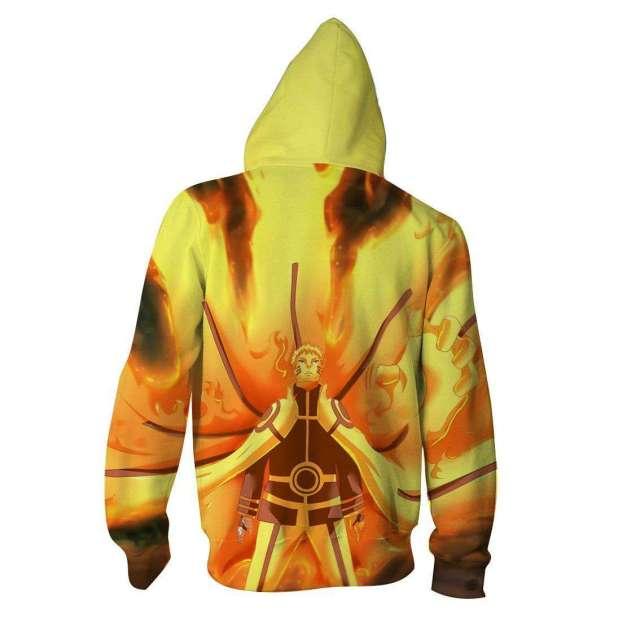 Veste à capuche 3D All Over Naruto Kyubi Mode
