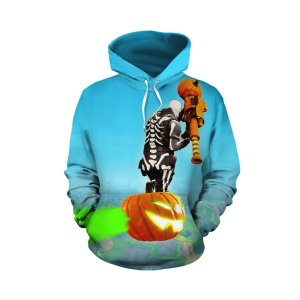 Pull à capuche 3D All Over Fortnite Skull