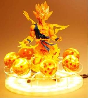 Lampe Dragon Ball Goku & Shenron + Boules de cristal