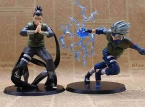 Lot de 2 Figurines Naruto Kakashi & Shikamaru